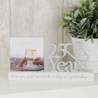 25 years Celebrations Photo Frame for 4 x 4 print wbwg100725