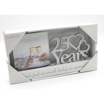 25 years Celebrations Photo Frame for 4 x 4 print wg100725 boxed
