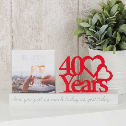 40 years Celebrations Photo Frame for 4 x 4 print wg100740