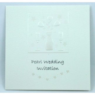 Pearl 30th Anniversary Invitation Card by Jean Barrington 343