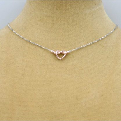 Sterling Silver 925 Gold Plated Heart Necklace by equilibrium 289050