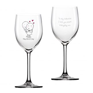 Chilli & Bubbles Valentines Day Wine Glass