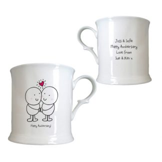Chilli and Bubbles Anniversary Half Pint China Tankard