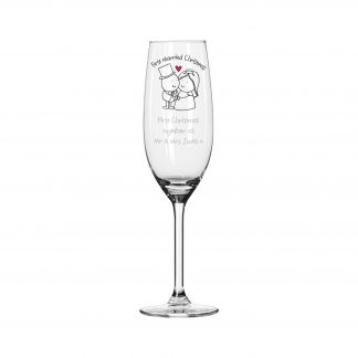 Personalised Chilli & Bubbles Married Flute