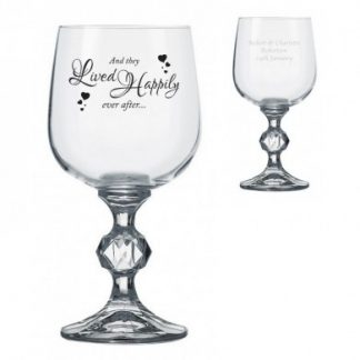 Happily Ever After Claudia Wine Glass