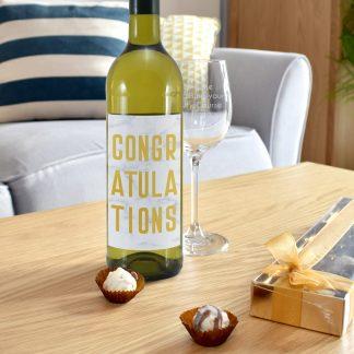Congratulations White Wine Gift Set