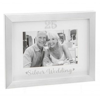 Silver Wedding Photo Frame 290328 25th Anniversary