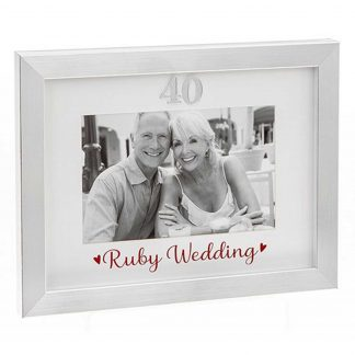 Ruby Wedding Photo Frame 6x4 290330 40th Anniversary