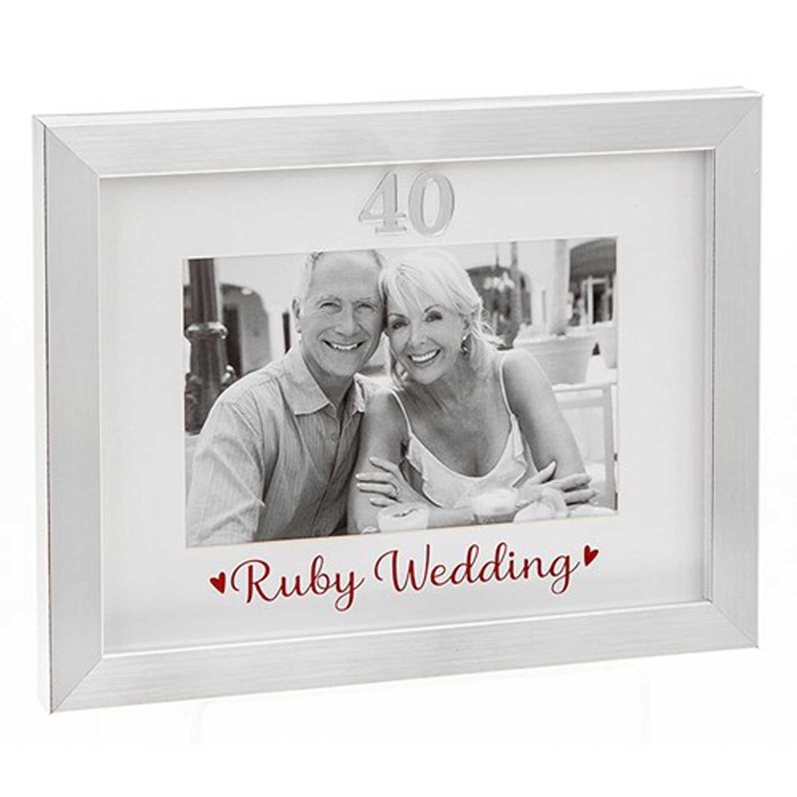 Ruby Wedding Photo Frame 6x4 290330 40th Anniversary