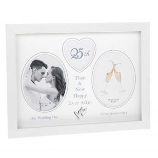 25th Wedding Anniversary photo frame then & now 290435