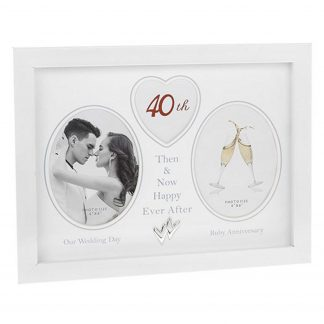 40th Wedding Anniversary Photo Frame Then & Now 290436