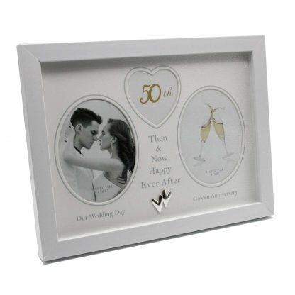 50th Wedding Anniversary Photo Frame Then & Now