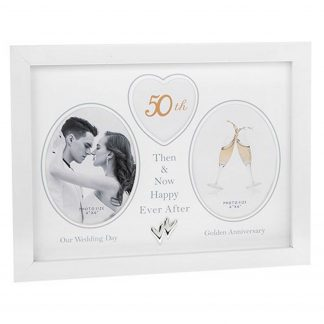 50th Wedding Anniversary Photo Frame Then & Now 290437