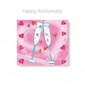 Happy Anniversary Champagne 3D CD Card by CDCard Company