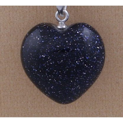Blue Goldstone Heart Pendant by Anniversary Ideas CE31434