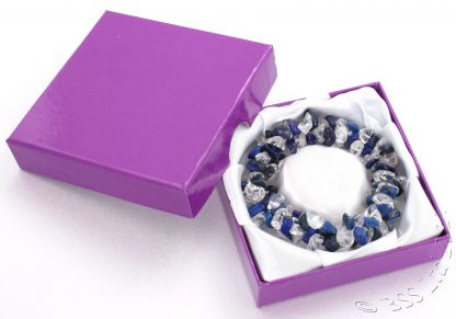 Lapis Lazuli and Crystal chip triple band bracelet by Anniversary Ideas