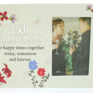 Silver 25th Anniversary Gifts - Floral Reflections Plaque by Shudehill Giftware