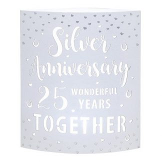 Silver 25th Anniversary Gifts - Starlight LED Lantern 293360