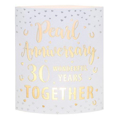 Pearl Anniversary Starlight LED Lantern 293361