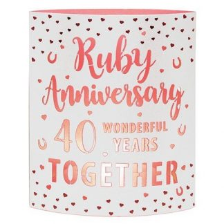 Ruby Anniversary Starlight LED Lantern 293362