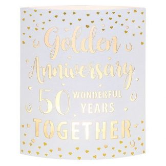 Golden Anniversary Starlight LED Lantern 293363