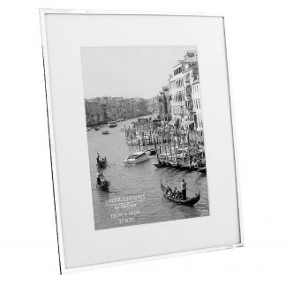 """Silver Plated Photo Frame with Mount 5"""" x 7"""""""