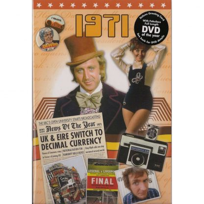 DVD with Memories from 1971 and a Greeting Card in one