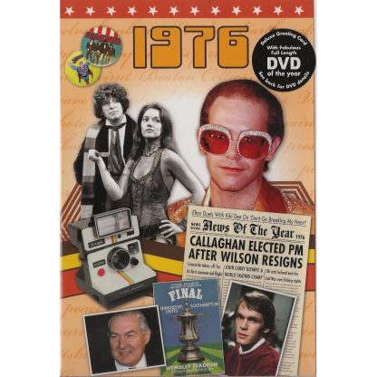 DVD with Memories from 1976 and a Greeting Card in one