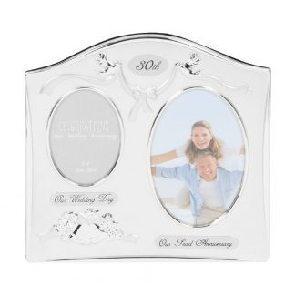 "Celebrations 30th Anniversary Gift Silver Photo Frame - 6"" x 4"""