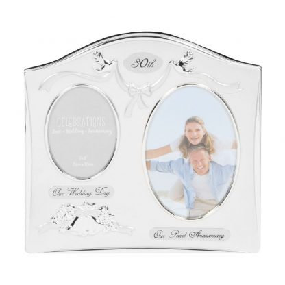 """Celebrations 30th Anniversary Gift Silver Photo Frame - 6"""" x 4"""""""