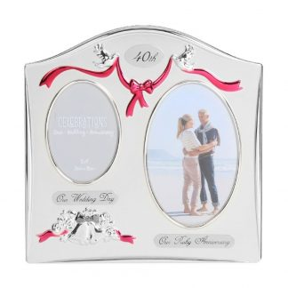 Celebrations 40th Anniversary Gift Photo Frame