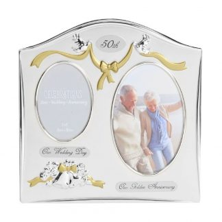 Celebrations 50th Anniversary Gift Silver Photo Frame