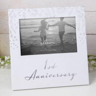 "AM115AN 6"" x 4"" - Amore Paperwrap Photo Frame - 1st Anniversary"
