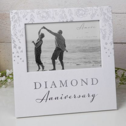 "Diamond Anniversary Amore Paperwrap Photoframe 6"" x 4"" AM11560"