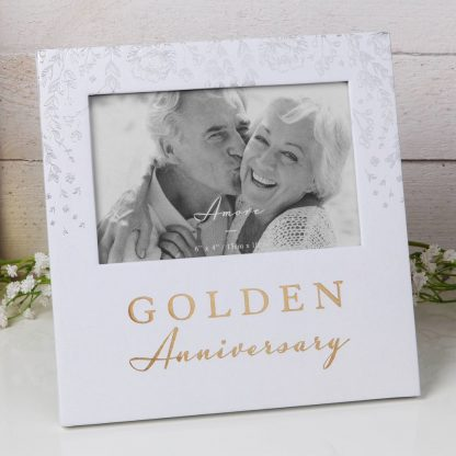 """Golden Anniversary Amore Paperwrap Photo Frame 6"""" x 4"""" AM11550"""