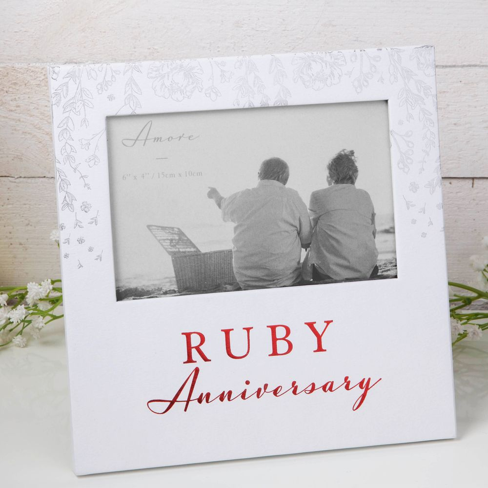Ruby Anniversary Amore Paperwrap Photo Frame 6″ x 4″ AM11540