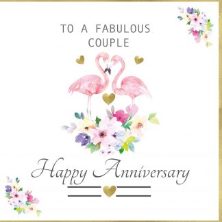To a Fabulous couple Anniversary Greeting Card