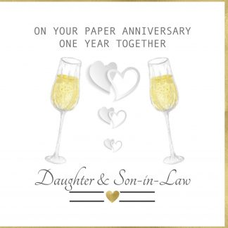 On Your Paper Anniversary Daughter & Son In Law Greeting Card