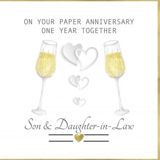 On Your Paper Anniversary Son and Daughter in Law Greeting Card
