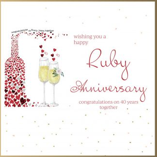 Wishing you a Happy Ruby Anniversary Greeting Card