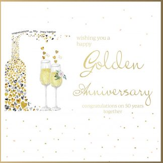 Wishing you a Happy Golden Anniversary Greeting Card