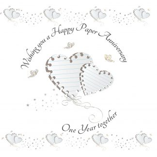 Wishing you a Happy Paper Anniversary Greeting Card