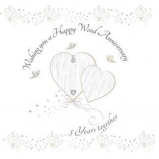 Wishing you a Happy Wood Anniversary Greeting Card