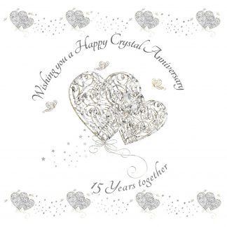 Wishing you a Happy Crystal Anniversary Greeting Card