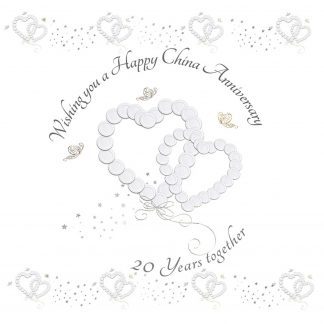 Wishing you a Happy China Anniversary Greeting Card