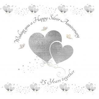 Wishing you a Happy Silver Anniversary Greeting Card