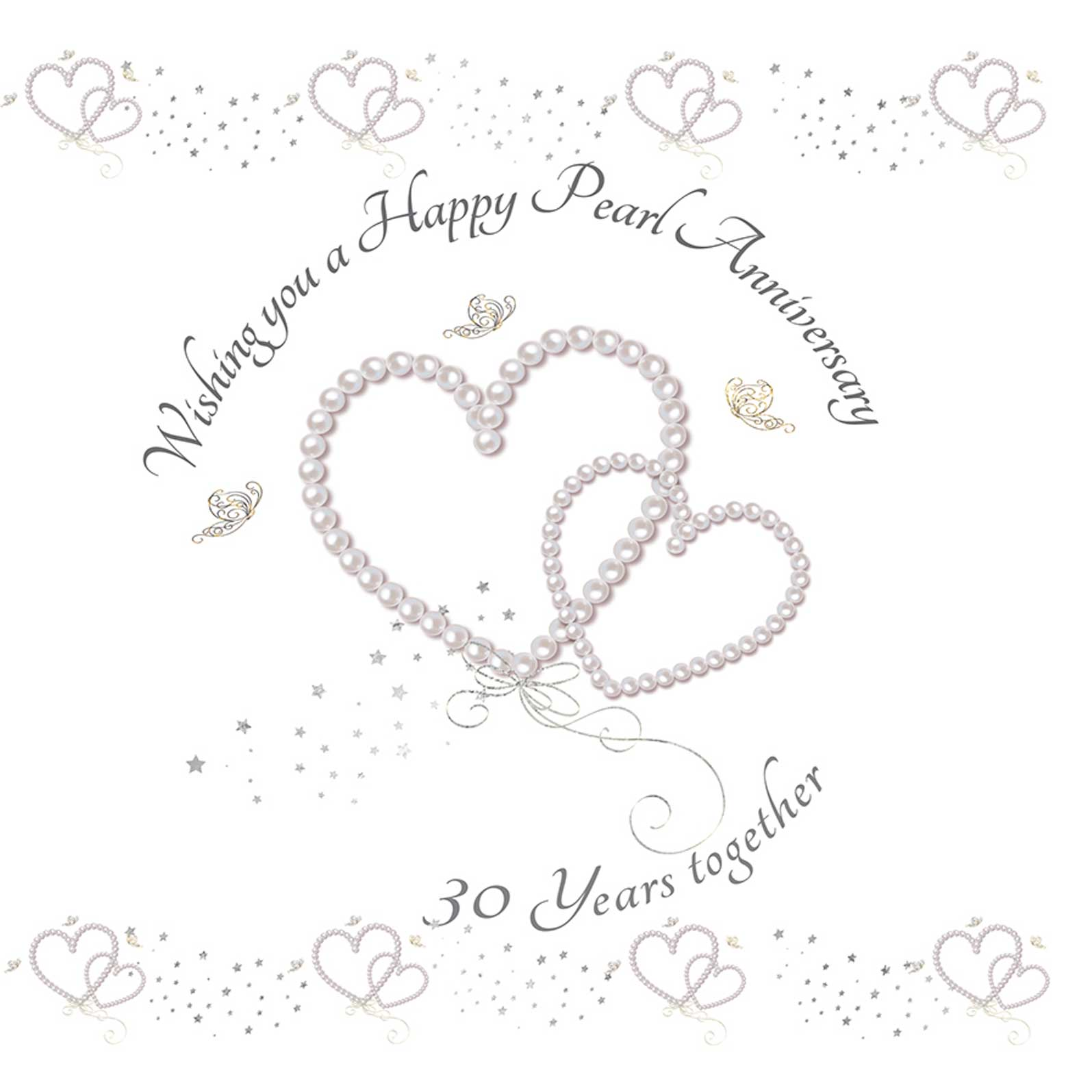 Wishing you a Happy Pearl Anniversary Greeting Card