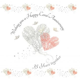 Wishing you a Happy Coral Anniversary Greeting Card