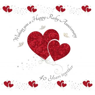 Wishing you a Ruby Anniversary Greeting Card