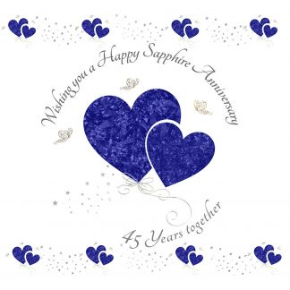 Wishing you a Happy Sapphire Anniversary Greeting Card